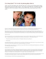 Tài liệu Tìm hiểu về bệnh ù tai