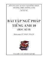 Tài liệu Bài tập ngữ pháp tiếng Anh 10 (HKII) doc