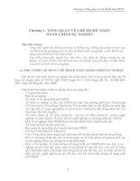 Tài liệu Chương 1: Tổng quan về chế độ kế toán docx