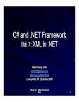 Tài liệu Bài 7: XML in .NET pdf