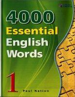4000 Từ vựng tiếng Anh thiết yếu tập 1