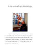 Tài liệu 30 phút aerobic mỗi ngày để đẩy lùi lão hóa docx