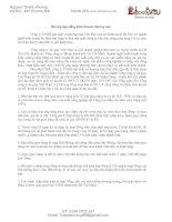 Bài tập hợp đồng kinh doanh, thương mại