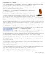 Tài liệu Ung thư phổi - 80% là do thuốc lá ppt