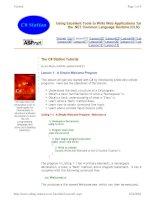 Tài liệu Lesson 1: A Simple Welcome Program ppt