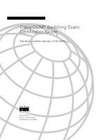 Tài liệu Cisco Press - Ccnp - Switching Exam Certification Guide doc