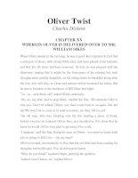 Tài liệu LUYỆN ĐỌC TIẾNG ANH QUA TÁC PHẨM VĂN HỌC-Oliver Twist -Charles Dickens -CHAPTER 20 pdf