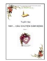 Tài liệu Tuyển tập 1001... câu chuyện cảm động - Phần 1 ppt