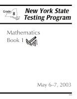 Tài liệu New York Testing program - Mathemetics docx