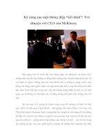 """Tài liệu Kỹ năng tạo một thông điệp """"kết dính"""": Trò chuyện với CEO của McKinsey ppt"""