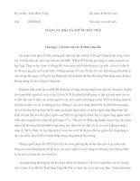 """Tài liệu Tóm tắt sách môn Kinh tế vĩ mô """" Toàn cầu hóa và những mặt trái """" pdf"""