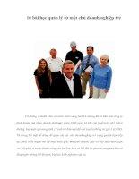 Tài liệu 10 bài học quản lý từ một chủ doanh nghiệp trẻ ppt
