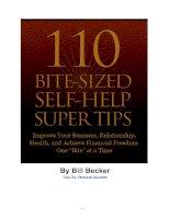 Tài liệu 110 bite-sized self-help super tips pptx