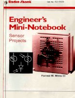 Engineer's mini notebook   sensor projects