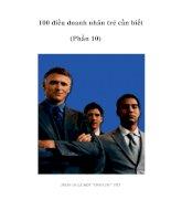 Tài liệu 100 điều doanh nhân trẻ cần biết (Phần 10) pdf