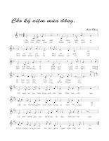 Tài liệu Bài hát cho kỉ niệm mùa đông - Anh Bằng (lời bài hát có nốt) ppt
