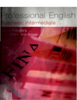 Tài liệu Professional english business intermediate part 1 pdf