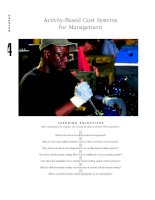 Activity based cost systems for management