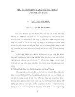 CÁC TÌNH HUỐNG QUẢN TRỊ TÁC NGHIỆP