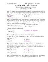 Tài liệu 172 câu hỏi trắc nghiệm tính chất mạch điện xoay chiều không phân nhánh docx