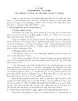 Tài liệu CHƯƠNG II: TRÁCH NHIỆM THỰC HIỆN CÁC NHIỆM VỤ CÔNG TÁC VĂN THƯ TRONG CƠ QUAN ppt