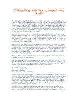 Tài liệu Chiêng đồng - một nhac cụ truyền thống lâu đời doc