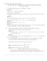 Tài liệu đề ôn thi TN số 13