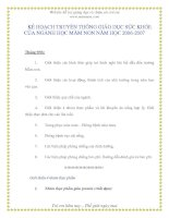 Tài liệu Website h tr gi ng d y và chăm sóc tr em www.Kế họach truyền thông giáo dục sức khỏe của nghành mầm non - Phần 9 pdf