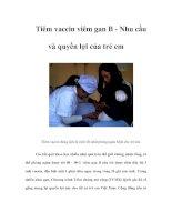 Tài liệu Tiêm vaccin viêm gan B - Nhu cầu và quyền lợi của trẻ em docx