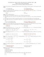 Tài liệu Trắc nghiệm ôn tập học kỳ môn toán lớp 11 nâng cao doc
