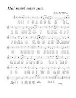 Tài liệu Bài hát hai mươi năm sau - Trầm Tư Thiêng (lời bài hát có nốt) doc