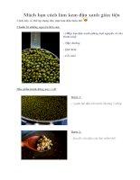 Tài liệu Mách bạn cách làm kem đậu xanh giản tiện pdf