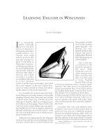 Tài liệu Learning English in Wisconsin doc