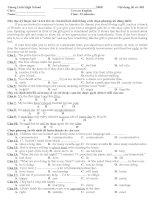 Tài liệu [Luyện thi tiếng Anh] Test on English_04 docx