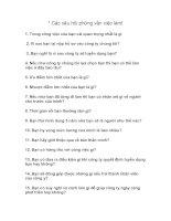 Các câu hỏi phỏng vấn việc làm