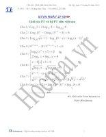 Tài liệu Các bài toán giải PT và hệ PT siêu việt (Bài tập và hướng dẫn giải) pdf