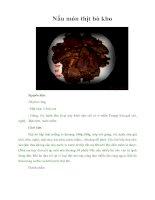 Tài liệu Nấu món thịt bò kho doc