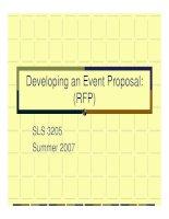 Tài liệu Developing an Event Proposal: (RFP) ppt