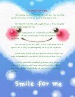 Nụ cười buổi sáng - Smile, you' re beautiful