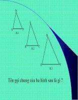 Bài soạn Định lý ta lét trong tam giác tiết37