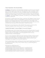 Tài liệu Using Transactions with a DataSet (SQL) pptx