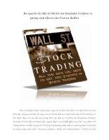 Tài liệu Ba nguyên tắc đầu tư bất hủ của Benjamin Graham và phong cách đầu tư của Warren Buffett pdf