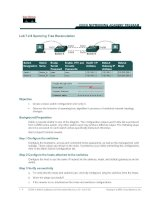 Tài liệu 1 - 4 CCNA 3: Switching Basics and Intermediate Routing v 3.0 - Lab 7.2.6 Copyright  2003, Cisco Systems, Inc. Lab 7.2.6 Spanning Tree Recalculation docx