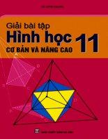 Giải bài tập cơ bản và nâng cao Hình học 11