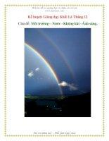 Tài liệu Môi trưởng - Nước - Không khí - Ánh sáng (Khối Lá) pptx