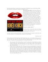 Tài liệu Bán hàng khiêu khích: Nghệ thuật sử dụng ngôn từ để thành công trong bán hàng (Phần Hai) ppt