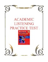 Tài liệu ACADEMIC LISTENING PRACTICE TEST doc