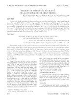 Tài liệu NGHIÊN CỨU MỘT SỒ YẾU TỐ DỊCH TỄ CỦA GÃY XƯƠNG MŨI DO CHẤN THƯƠNG docx