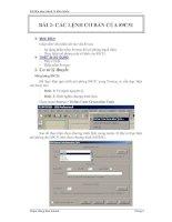 Tài liệu Tài liệu thực hành Vi điều khiển BÀI 2: CÁC LỆNH CƠ BẢN CỦA 89C51 MỤC doc