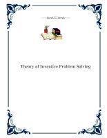 Tài liệu Theory of Inventive Problem Solving pdf